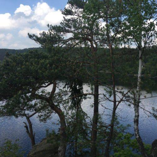 Výhled na přehradu